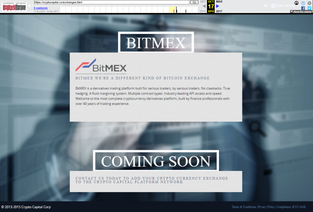 Crypto Capital Bitmex