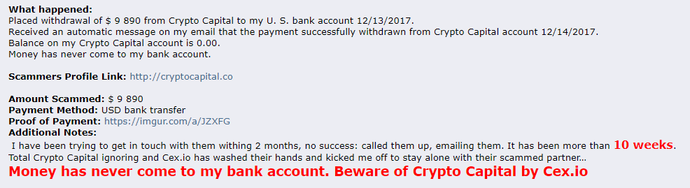 Crypto Capital cex io scam