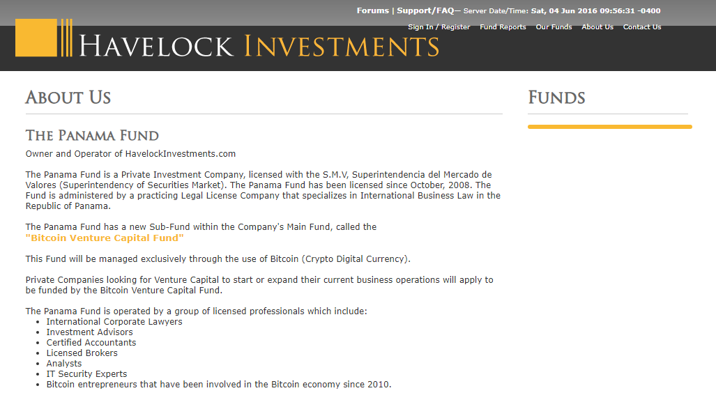Havelock Investments Crypto Capital